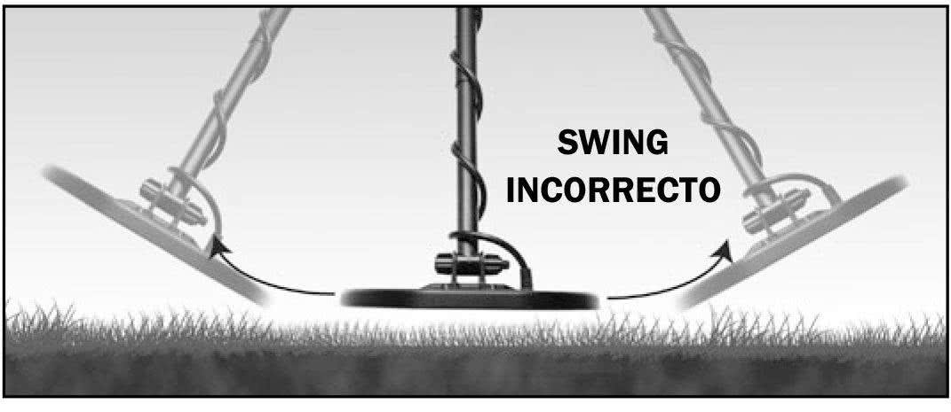 Swing incorrecto Garrett AT Pro