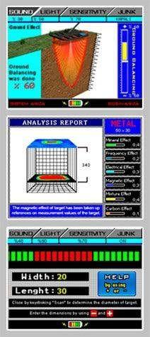 Imagen del menu de control del detector de metales Jeohunter Basic de Makro