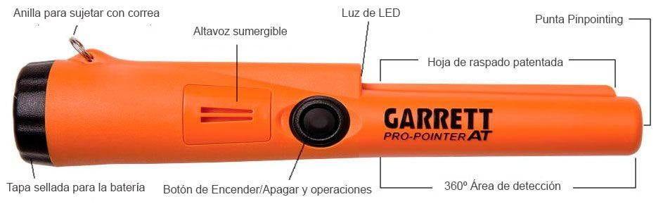 Partes del detector de meatles manual Garrett Pro Pointer AT