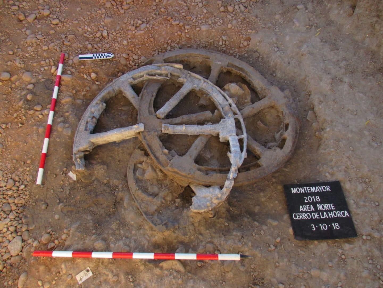 Carro de guerra íbero encontrado con detectores de metales
